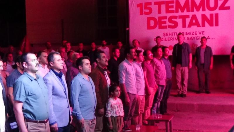 15 TEMMUZ DEMOKRASİ ZAFERİ BİSMİL'DE ETKİNLİKLERLE ANILDI!!!