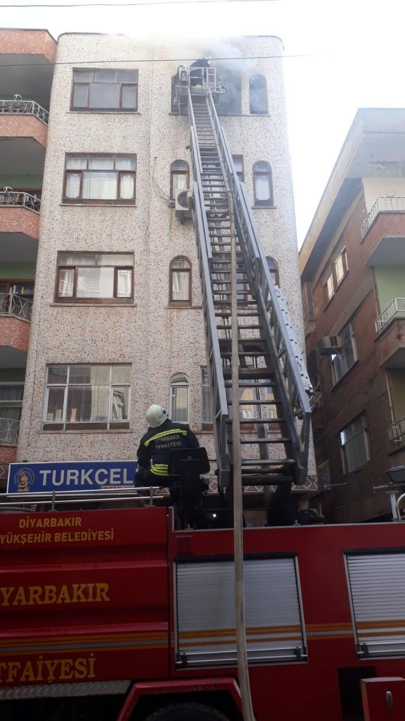 ALTIOK MAHALLESİNDE BİR EVDE YANGIN ÇIKTI !!!