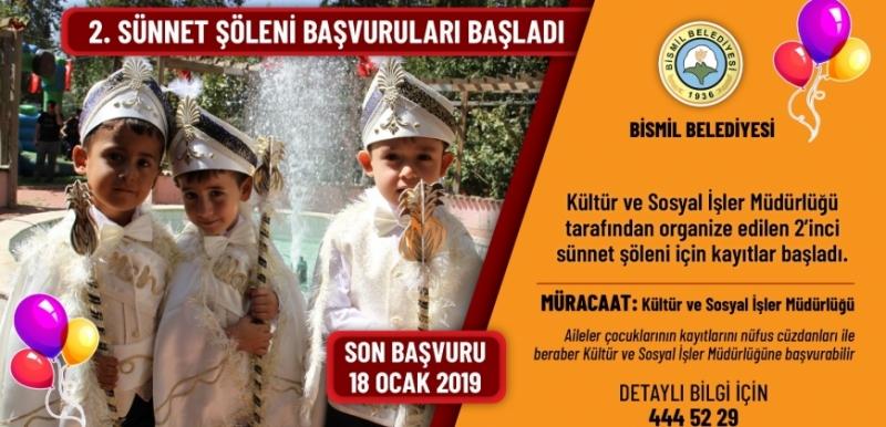 BİSMİL BELEDİYESİ 2.SÜNNET ŞÖLENİ BAŞVURULARI BAŞLADI !!!