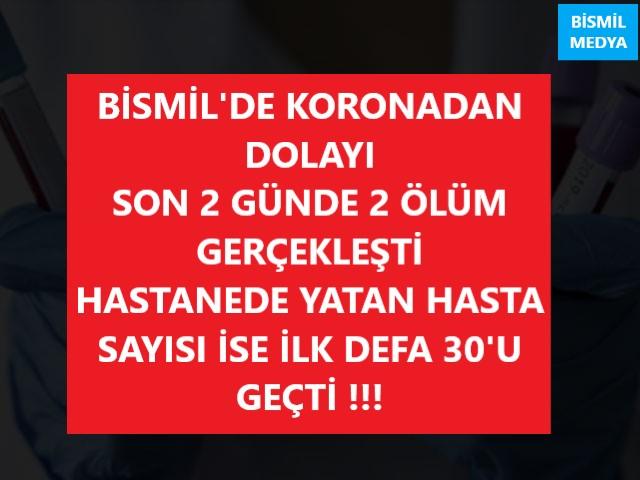 BİSMİL'DE ÖLÜM VE VAKA SAYILARI ARTIYOR !!!