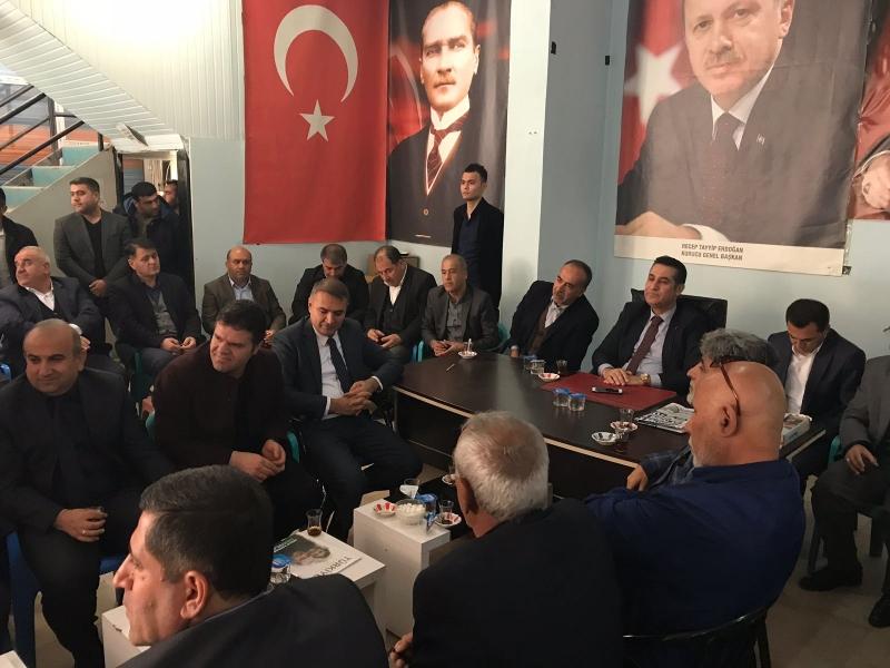 Hüdapar İlçe Başkanlığı ve Sivil Toplum Kuruluşlarından   Ak Parti İlçe başkanlığına Ziyaret