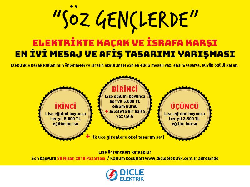 DEDAŞ tan Kaçak Elektrik ve İsrafa Karşı En İyi Mesaj ve Afiş Tasarımı Yarışması