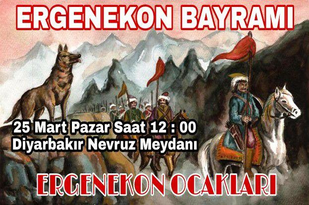 DİYARBAKIR ERGENEKON OCAKLARI 25 MART'TA NEVRUZU KUTLAYACAK !!!