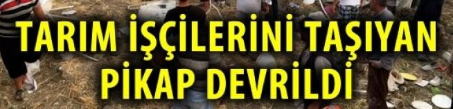 SON DAKİKA !!! TEPE'DE İŞÇİLERİ TAŞIYAN KAMYONET DEVRİLDİ, ÇOK SAYIDA YARALI VAR !!!