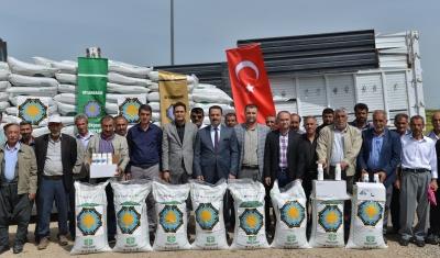 Büyükşehir Belediyesi'nden çiftçilere gübre desteği
